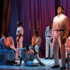 The Scottsboro Boys, and standing: Kyle Scatliffe (Haywood Patterson)  Photo by Richard Hubert Smith.