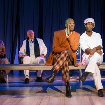 Left-right: Dawn Hope (The Lady), Julian Glover (Interlocutor), Colman Domingo (Attorney General) and James T Lane (Ruby Bates).  Photo by Richard Hubert Smith.