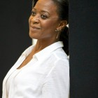 Dawn Hope (The Lady) in The Scottsboro Boys rehearsals. Photo by Richard Hubert Smith.
