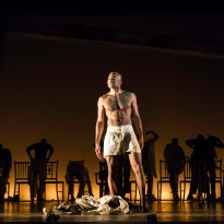 Brandon Victor Dixon (Haywood Patterson) and Company. Photo by Johan Persson
