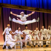 James T Lane (Ozie Powell/Ruby Bates) and The Scottsboro Boys Company. Photo by Johan Persson