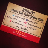 An INCREDIBLE #OpeningNight performance! Did you LOVE The #ScottsboroBoys? Make sure you SHOUT! About the show!
